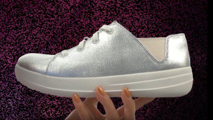 #FitFlop Fitness Schuhe - Sporty Sneaker, silber.
