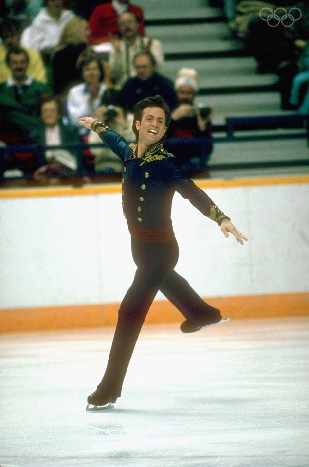 Brian Boitano during his Gold medal performance in the long program, Calgary, 1988.