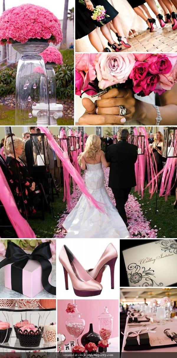 Hot Pink And Black Wedding Fashion Dresses