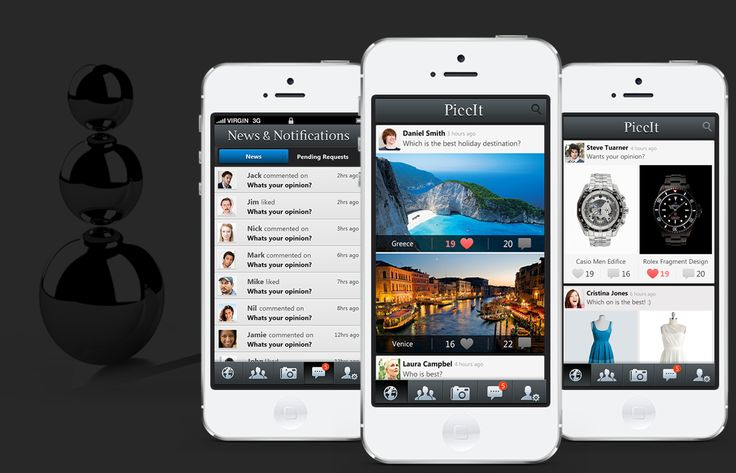 Picclt-Piccit is the best way to share and compare images of items with your friends, family and the Piccit community. It helps users make a decision between two photos of items, places or people, based on their peers' opinions by gaining likes and viewing comments. Application acts as a decision maker or tie-breaker for users when there is a dilemma between two suitable items. Post the set of images (a 'Piccit') to one of the three unique news feeds: public, followers or private.