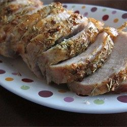 Roasted Pork Loin - Allrecipes.com. LOVE this recipe! Read the reviews! Cook to 145 degrees