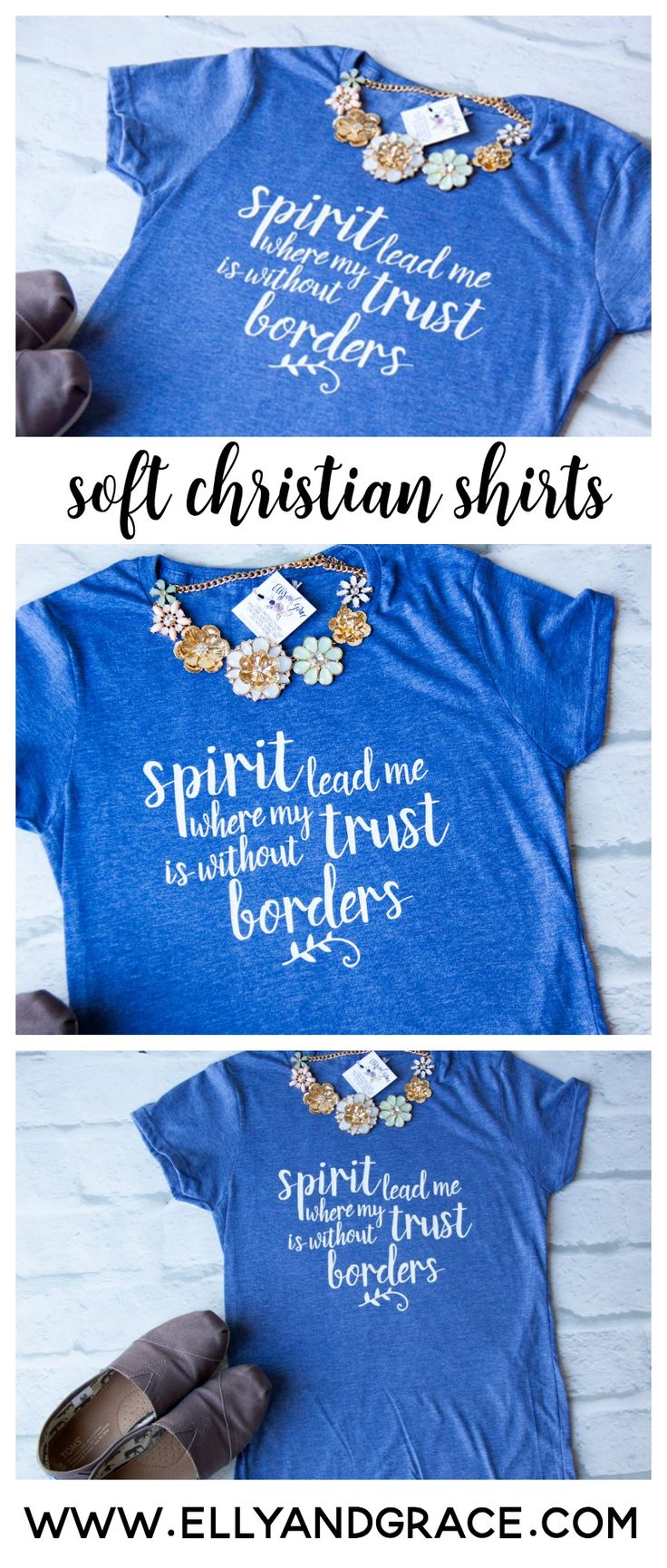 Inspired by the very popular Hillsong Song, Oceans, this classic shirt is perfect for the woman who can't stop singing worship songs after church!