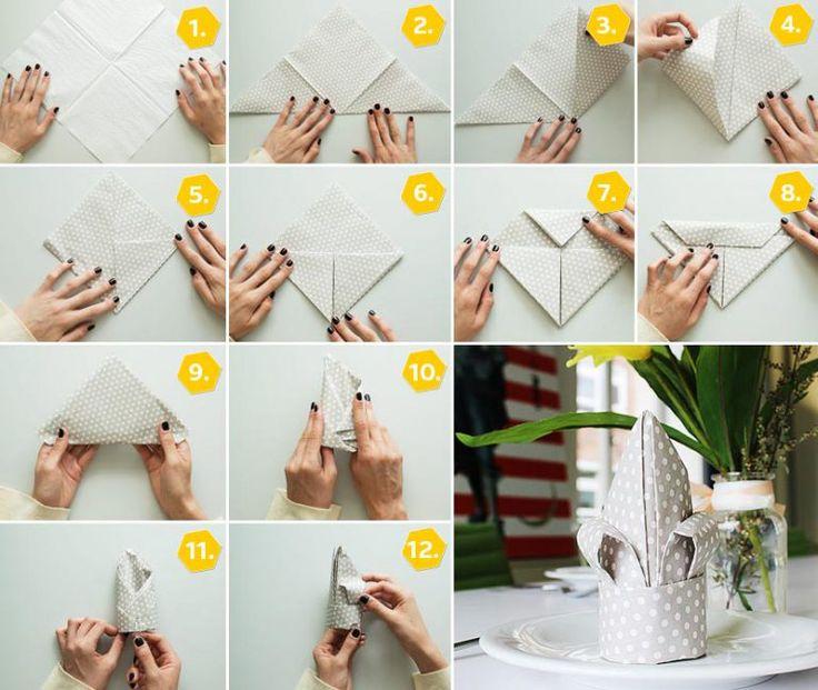 27 besten Servietten falten Bilder auf Pinterest Servietten - servietten falten tischdeko esszimmer