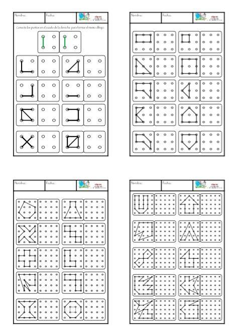 Reproduce la figura de la izquierda en el cuadrado de la derecha.