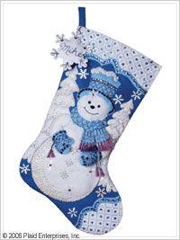 Bucilla ® Seasonal - Felt - Stocking Kits - Snowflake Snowman