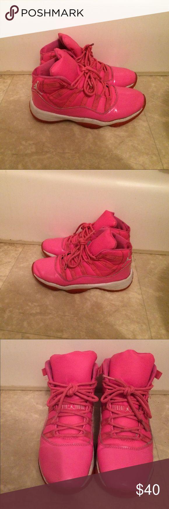 Pink and white Jordan 11's Pink and white Jordan's Air Jordan Shoes Sneakers