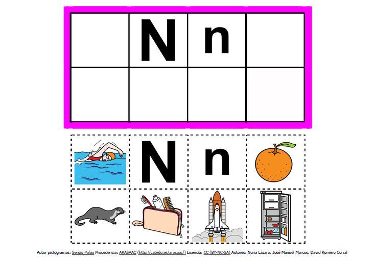 Abecedario con pictogramas: N http://informaticaparaeducacionespecial.blogspot.com.es/2013/09/abecedario-con-pictogramas-de-arasaac.html