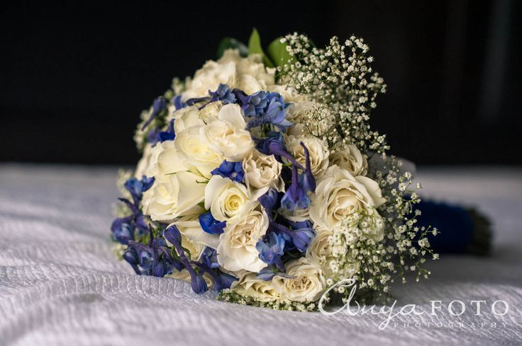 anyafoto.com, wedding bouquet, bridal bouquet, garden bouquet, white bouquet, blue bouquet, eclectic bouquet