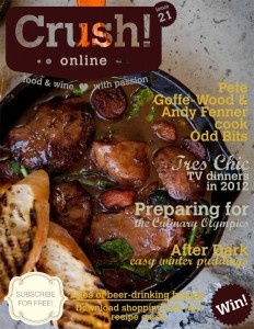 Crush! Online / issue 21 / food and wine magazine / recipe / pete goffe-wood