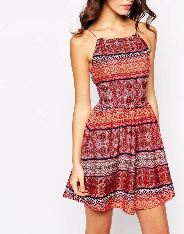 Bedrucktes Boho-Sommerkleid