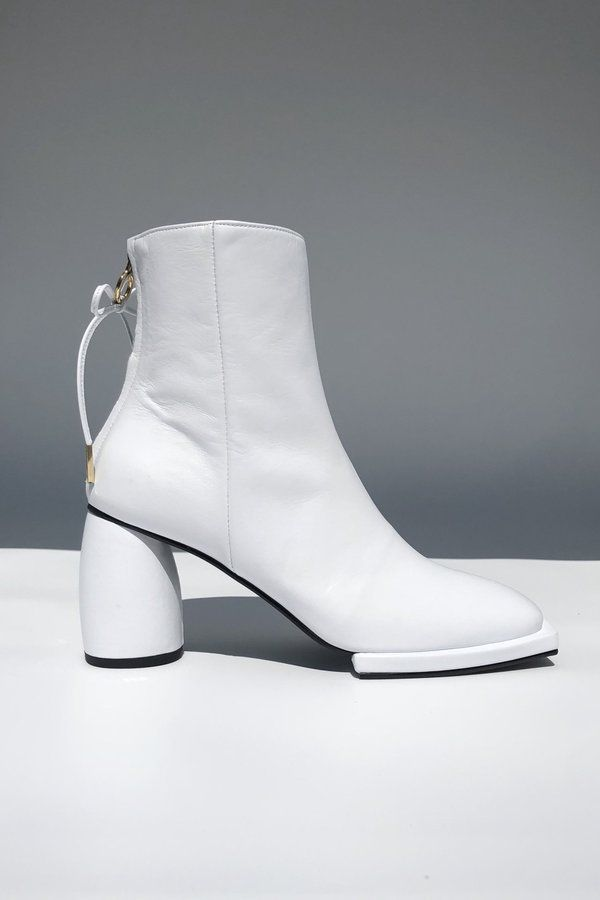 0370d73a262 Reike Nen Square Ribbon Half Boots - White | wishlist | Boots, Pumps ...