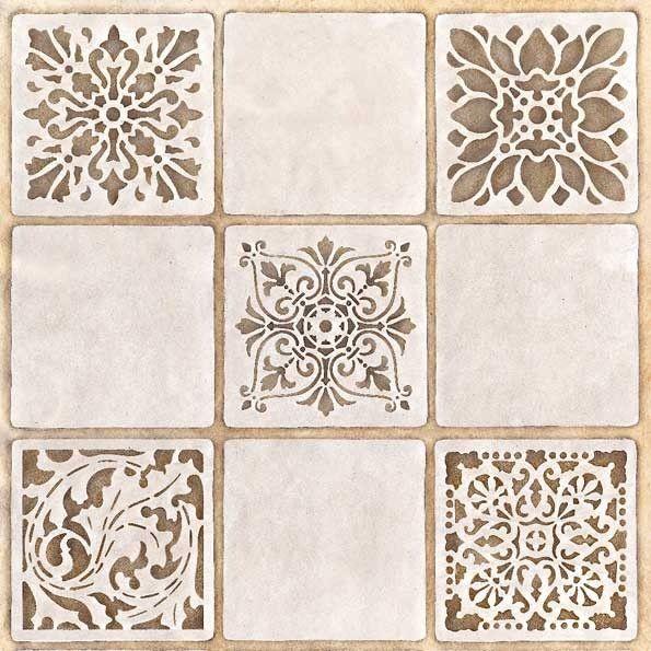 Stencils | Renaissance Tile Stencils 2 | Royal Design Studio