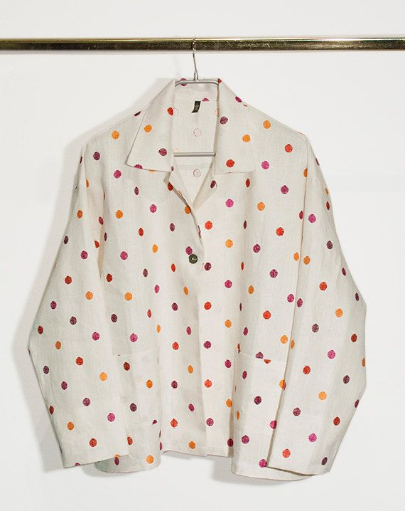 One button pois jacket in linen