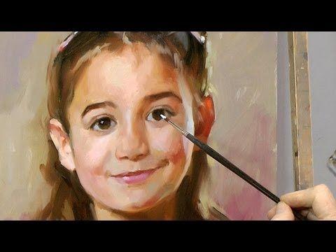 Learn how to paint a portrait by Ben Lustenhouwer
