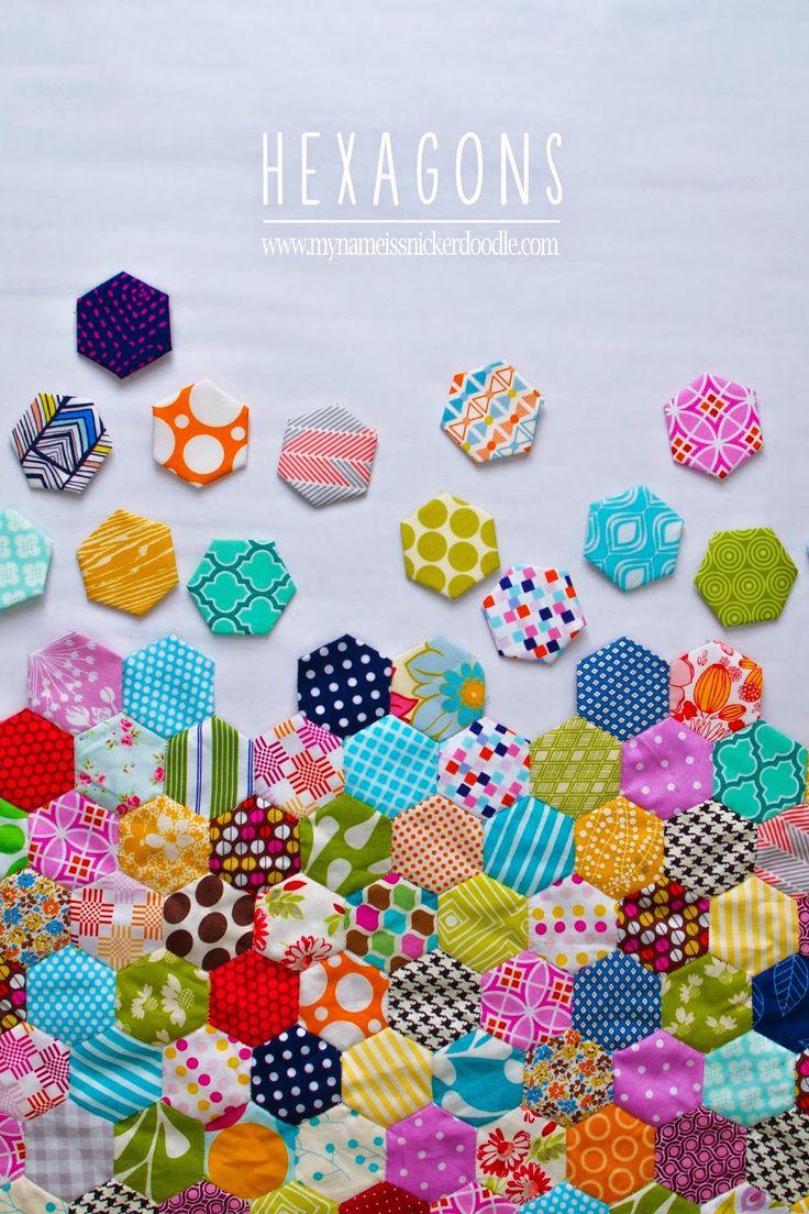 Hand Stitch Hexagon Quilt