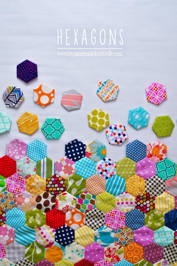 Hand Stitch Hexagon Quilt | My Name Is Snickerdoodle... absolutely stunning!