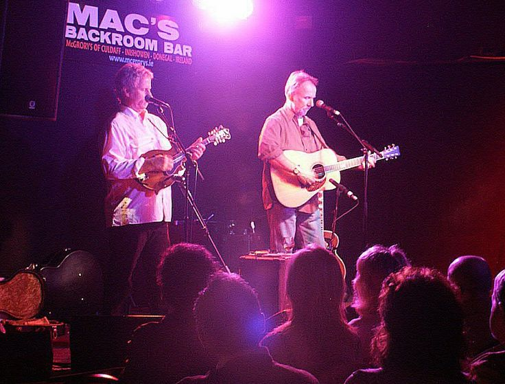 Chris Hillman and Herb Pederson perform in The Backroom at Mc Grory's of Culdaff