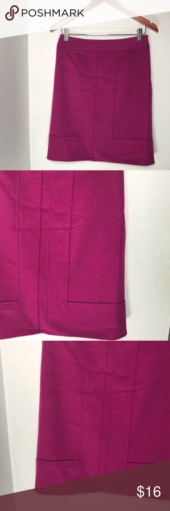 Ann Taylor Fuchsia Pink Pencil Skirt Wool Cashmere Item is in good condition no visible signs of wear and tear. Length of the skirt is 21.5 inches. Ann Taylor Skirts Pencil