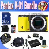 Getting Pentax K-01 16MP APS-C CMOS Compact Program Camera [Body] (Yellow) + Extended Lifestyle Battery + 32GB SDHC Class ten Memory Card + USB Card Reader + Memory Card Wallet + Deluxe Scenario w/Strap + Shock Proof Deluxe Case + Mini HDMI to HDMI Cable + Accessory Saver Bundle! Sale - http://buyingmanual.com/getting-pentax-k-01-16mp-aps-c-cmos-compact-program-camera-body-yellow-extended-lifestyle-battery-32gb-sdhc-class-ten-memory-card-usb-card-reader-memory-card-wallet-del