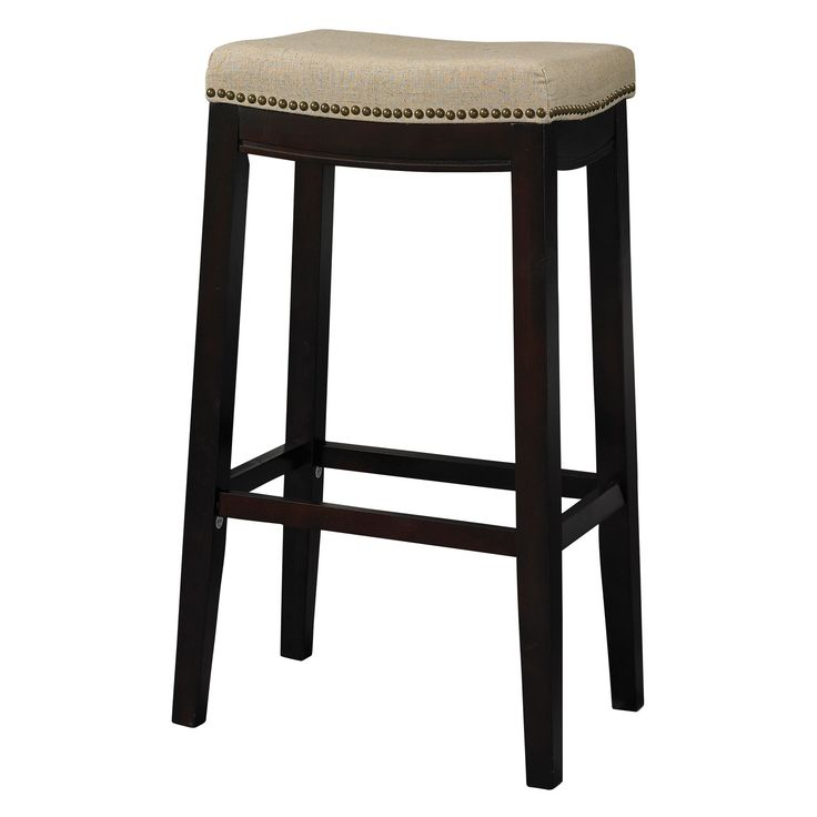 Have To Have It Linon Allure 30 In Backless Bar Stool