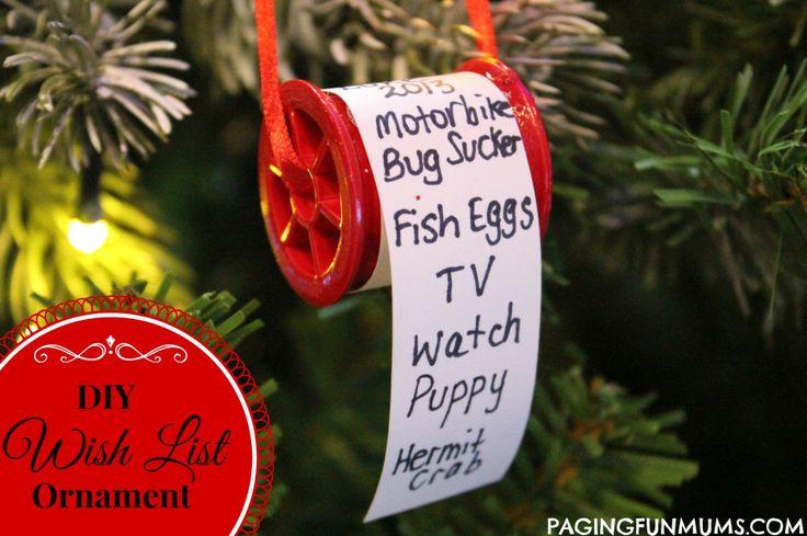 Adorable Christmas Wish List Ornament!