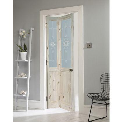 London Glazed Knotty Pine Bi Fold Internal Door 762mm