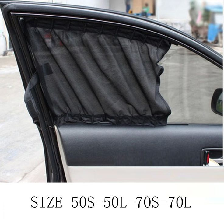 2PCS/Pair Universal Car Window Curtain Sun Shade Side Nylon Mesh  Foldable Sunshade UV Protection Cover Accessories #Affiliate