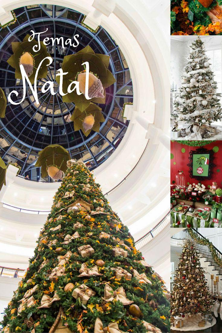 Veja que lindas as inspirações de temas de Natal: doces, Grinch, tudo em dourado ou a lembrança do inverno... muitas decorações lindas!