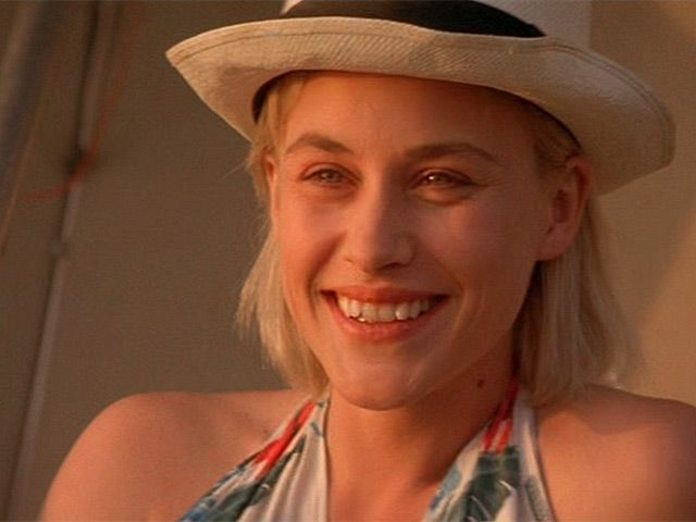 Patricia Arquette - true romance. love this movie, one of my all time favorite. she is bad ass in it.