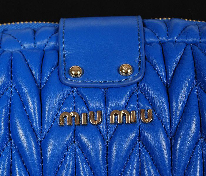 Miu Miu Newest Matelasse Blue Clutch Bag 7 #bagsforsale