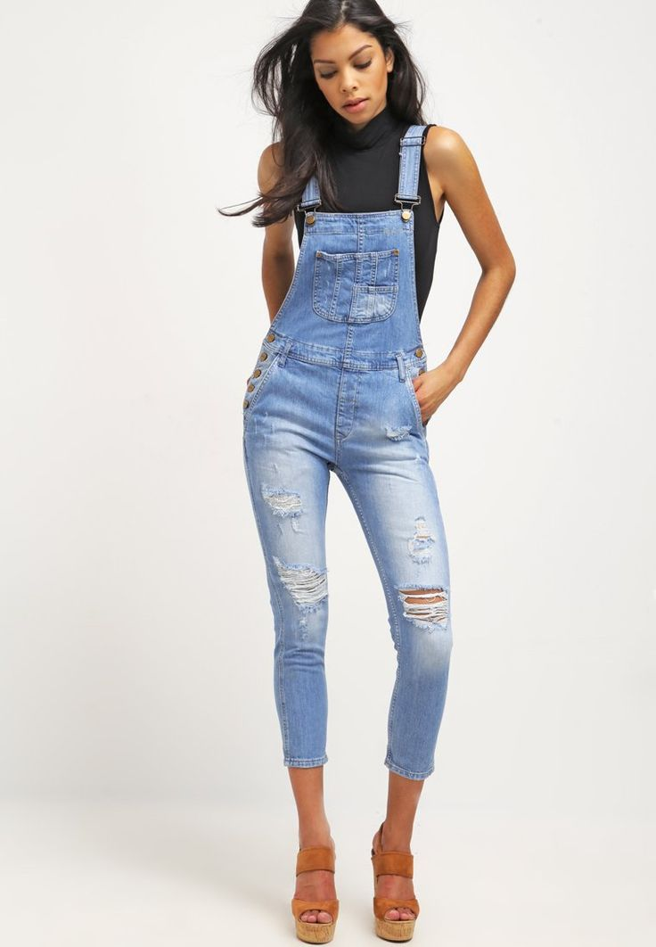 Pepe Jeans SLATE Salopette bleached denim prix promo Salopette Femme Zalando 130.00 €