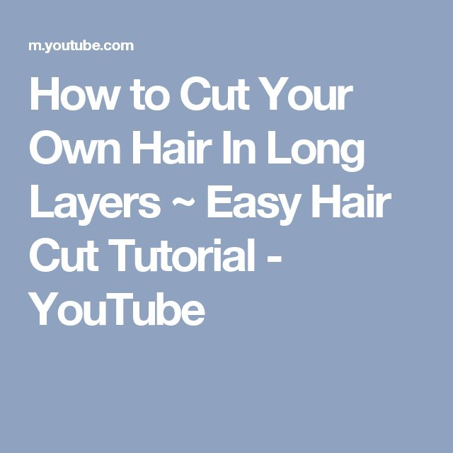 how to cut your own hair one length