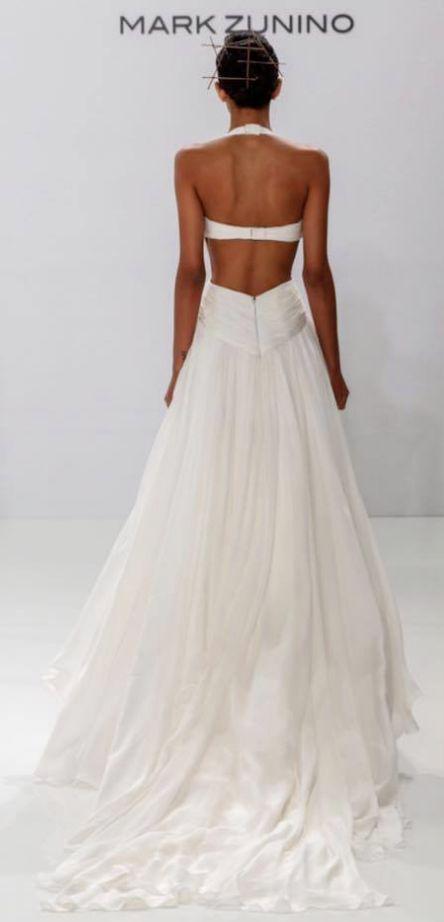 Featured Dress: Mark Zunino; Wedding dress idea.