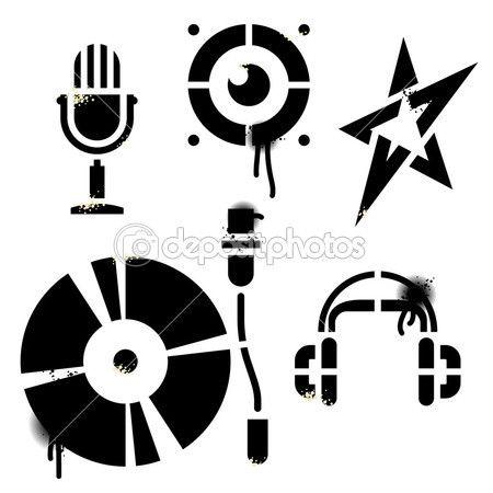 Vector εικόνες μουσική «διάτρητο». περιέχει καμία ιχνηθετημένο εικόνες. όλα τα…