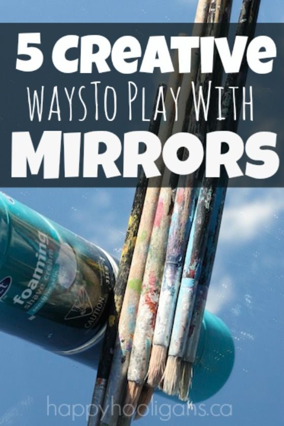 5 Fun and Creative Mirror Play Activities.  Simple to set up, and they add such a fun and interesting perspective to every day sensory and art activities for toddlers and preschoolers.  - Happy Hooligans