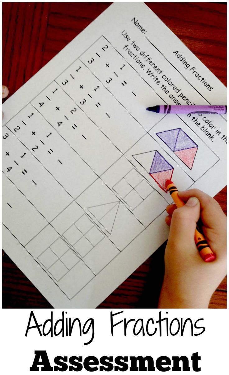 Practice Adding Fractions By Coloring Models
