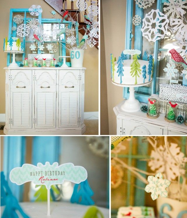 Winter Wonderland party details and printables