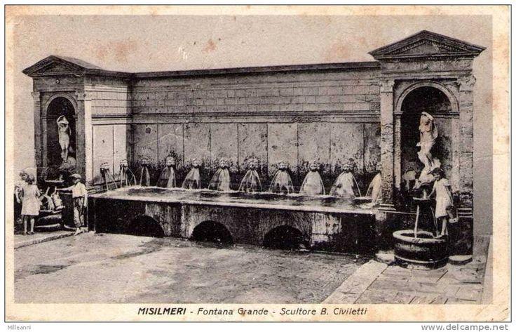 MISILMERI - FONTANA GRANDE - SCULTORE B. CIVILETTI   1941 - Palermo