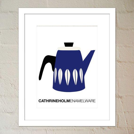 Scandinavian Enamelware  Cathrineholm Dark Blue by paper4download