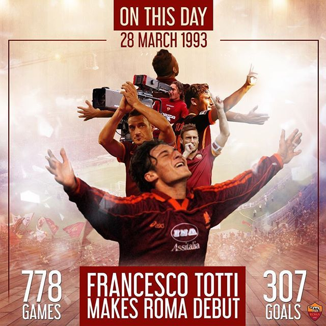 #Legend  *** Follow @officialasroma on Instagram *** #Totti #ASRoma #Roma #dajeroma #kingofrome #leggenda #calcio #football #icon #rome #graphic #giallorossi #italia