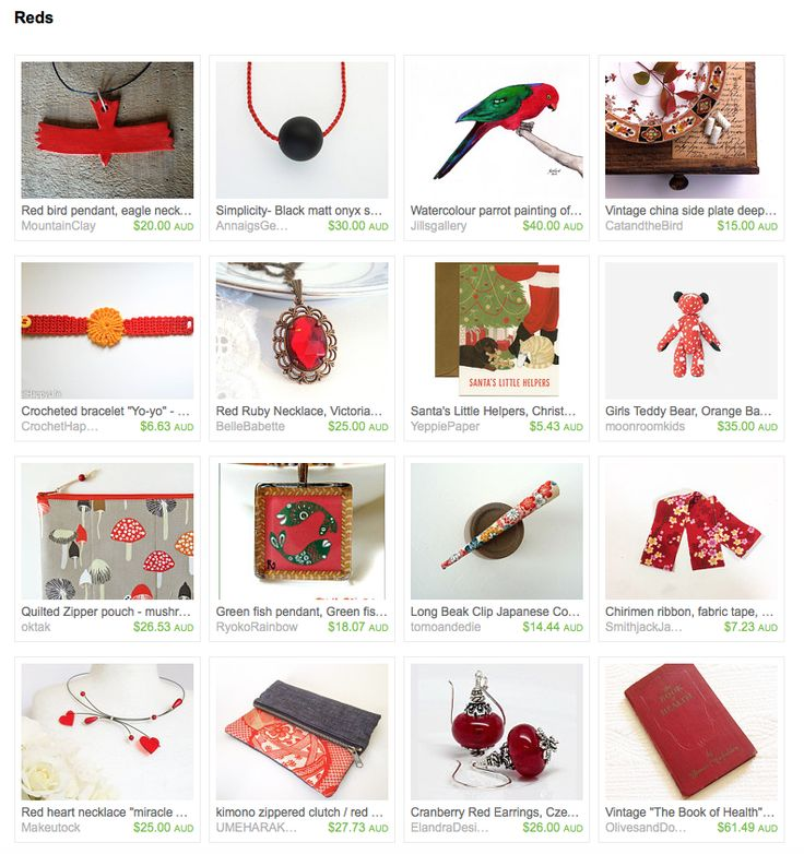 Reds by Miho on Etsy