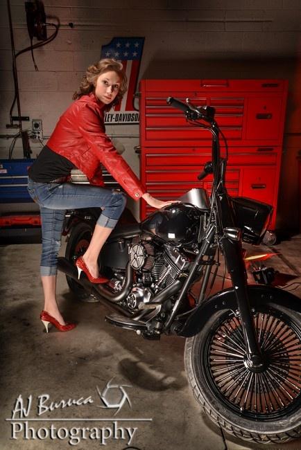 Audra Landeen Motorcycle Photo Shoot Model Photography