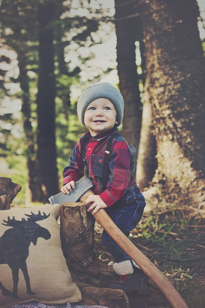 Plaid is back for spring! Baby boys look so cute in lumberjack-inspired outfits.