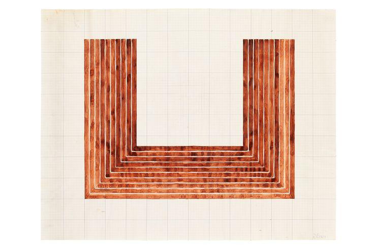 Elaine Sturtevant, Stella Lake City, 1969 Tusche und Aquarell auf Millimeterpapier © Collection of Virginia Dwan #Sturtevant #Appropriationart #contemporary #art #artist #Lichtenstein #Popart #Warhol #Rauschenberg #Johns #Conceptart #Readymade #Duchamp #postmodern