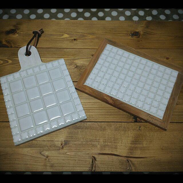 セリアのカッティングボードが材料 リメイク雑貨を作ろう カッティングボード セリア タイルコースター