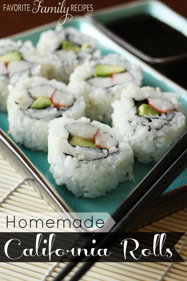 California Rolls - These are so much cheaper to make than to buy PLUS they aren't as difficult as you may think! fro FavFamilyRecipes.com