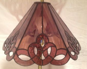 Stained Glass Lamp Shade Retro-Vintage by RobinsTreasures on Etsy