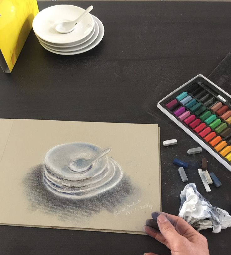 White China using pastel by swee mee