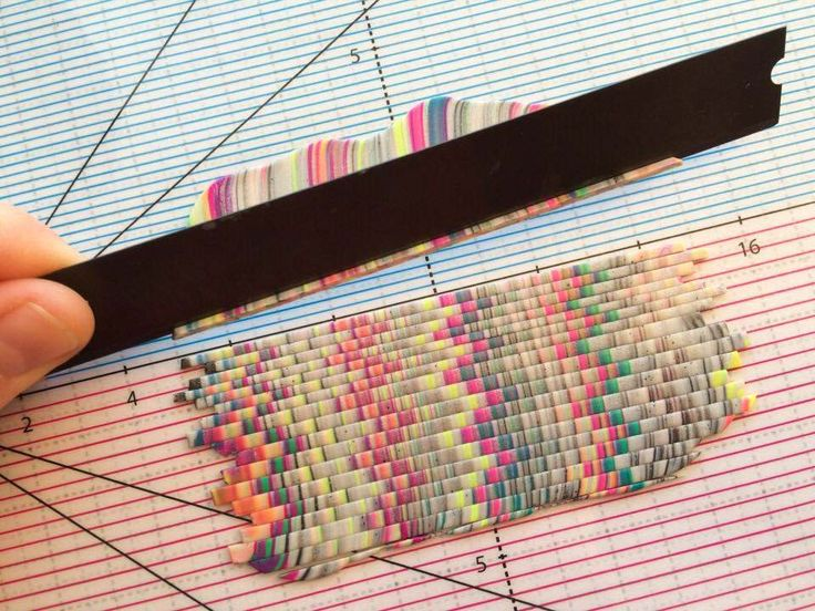 picture tute - quick bargello with scraps ~ Polymer Clay Tutorials
