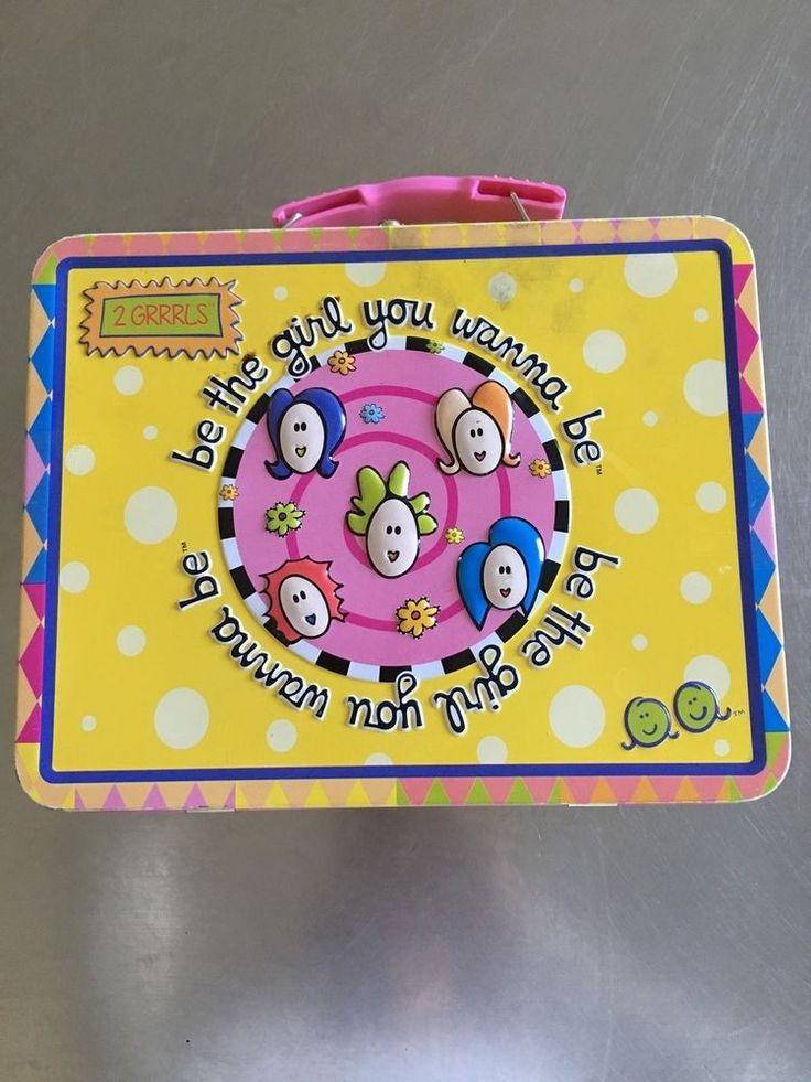 2 GRRRLS Tin Lunch Pale Container 2001 2 Grills, Inc.  | eBay